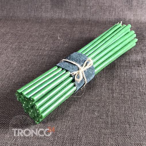 Свеча полувосковая зеленая № 60