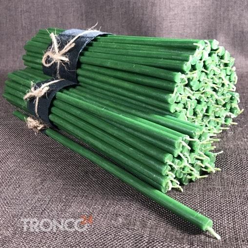 Свеча парафиновая зеленая № 60