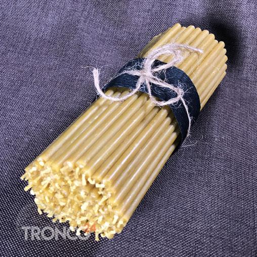 Свеча полувосковая желтая № 60