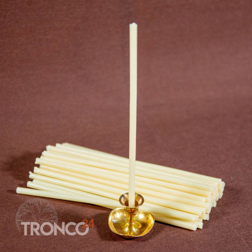 Свеча полувосковая Белая № 60