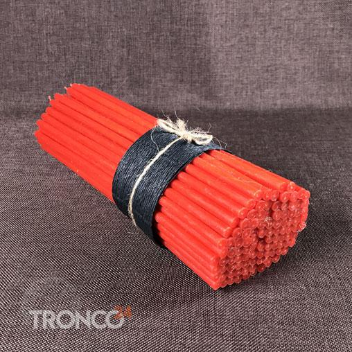 Свеча полувосковая красная № 80 (кг)
