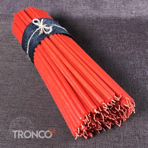 Свеча полувосковая красная № 20 (кг)