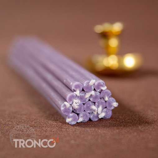 Свеча полувосковая Фиолетовая № 60