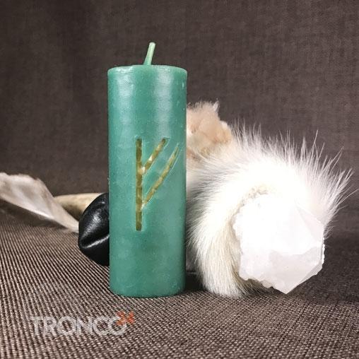 Свеча руническая Феху - Богатство