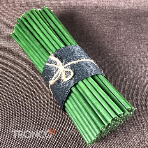 Свеча полувосковая зеленая № 40