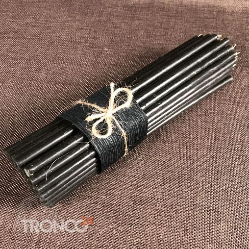 Свеча полувосковая черная № 20