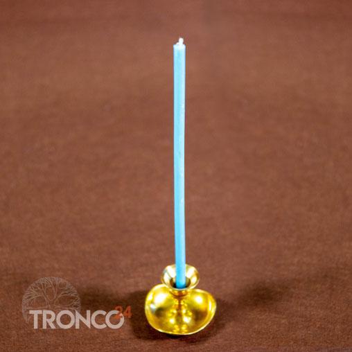 Свеча полувосковая Голубая № 60