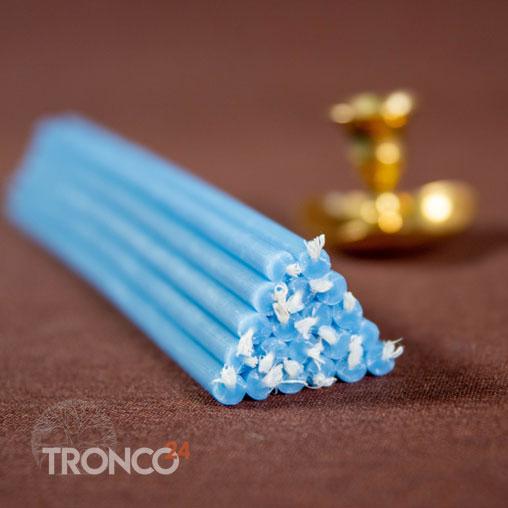 Свеча полувосковая Голубая № 60 (кг)