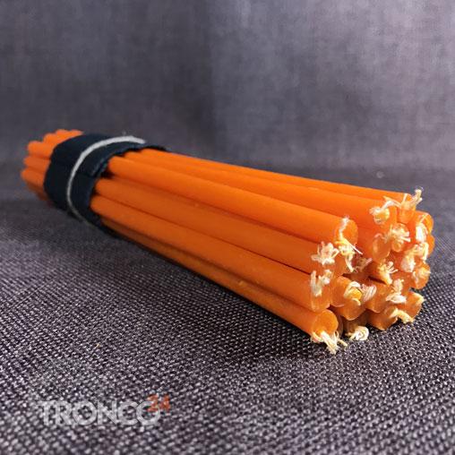 Свеча полувосковая оранжевая № 60