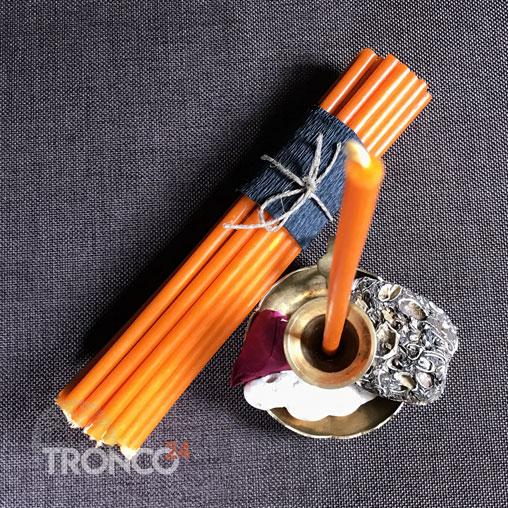 Свеча парафиновая оранжевая № 60