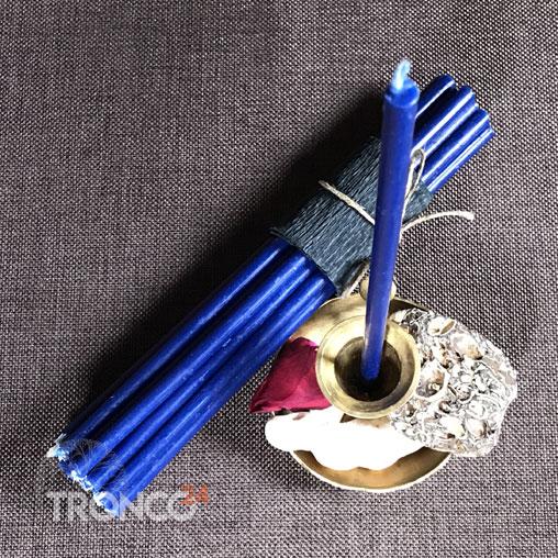 Свеча парафиновая синяя № 60