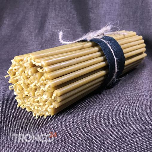 Свеча восковая желтая № 100